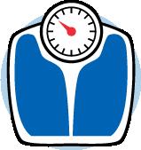 Une icône d'une balance bleue.