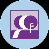 Une icône représentant les cancers de la tête et du cou avec 3silhouettes. La silhouette violette à l'avant-plan comporte un contour de la cavité buccale, du pharynx et du larynx.
